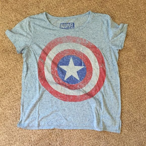 Captain America Women's Tee Super soft Marvel Captain America t-shirt Marvel Tops Tees - Short Sleeve