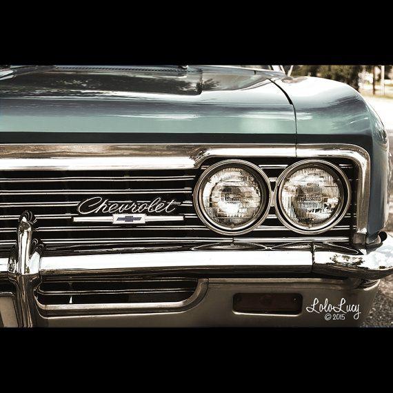 Vintage Auto Headlight Styles : Old style chevrolet impala fine art print car