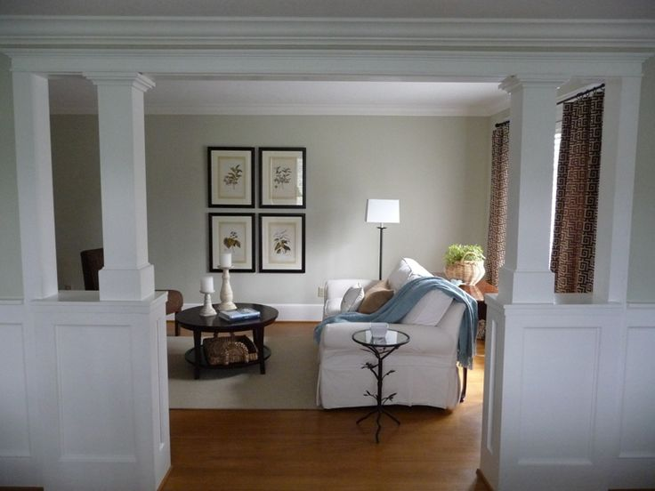 Half wall house ideas pinterest columns colors and - Pictures of columns in living room ...