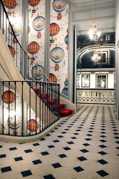 Vogue Living road tests: three Parisian hotels for every personality : Many of the hotel's interior details take inspiration from the history of the site, which was the location of France's first hot-air ballooning airfield.