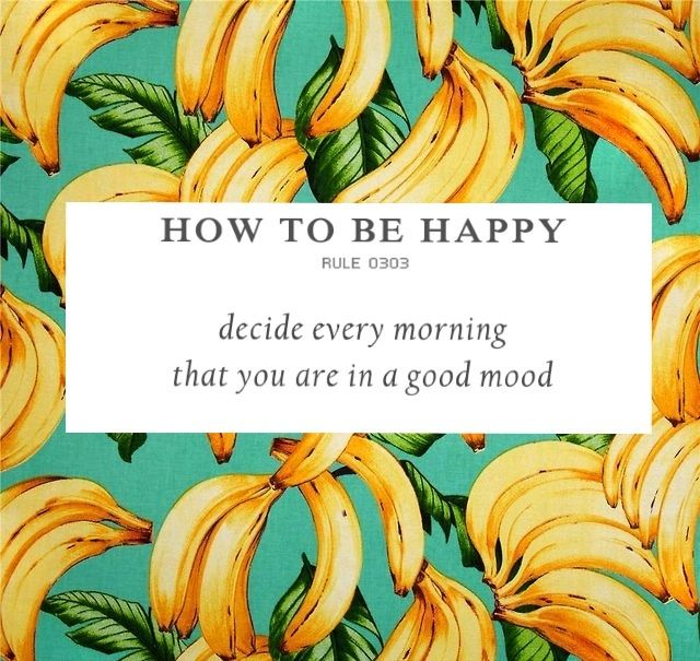 How to be happy Rule 0303   Decide every morning that you are in a good mood :)