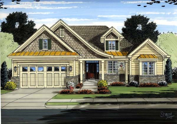 Cottage European Traditional House Plan 98650
