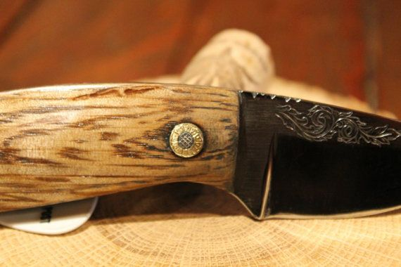 Handmade hand engraved Texas hunting knife by LarryNyeEngraving, $285.00