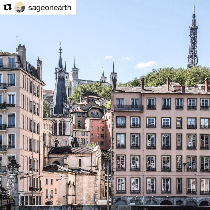 """1,469 Likes, 7 Comments - ONLYLYON (@onlylyon) on Instagram: """"#Repost @sageonearth A view of Fourviere Hill and some last buildings of Vieux Lyon from the other…"""""""