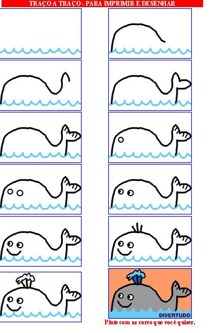 Vis tekenen met kleuters / desenhando+animais