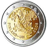 2 euro 60th Anniversary of the Establishment of the United Nations and 50th Anniversary of Finland's UN Membership - 2005 - Series: Commemor...