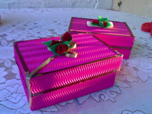 Resultado de imagen para cajitas forradas con papel corrugado