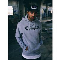 Mr. Tee Compton Hoodie Grey Black