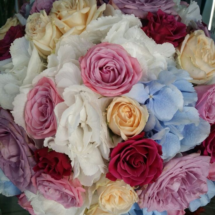 Splash of color with the combination of various #flowers and tones