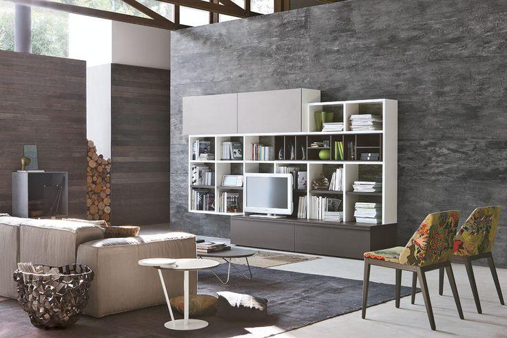 Parete attrezzata per #soggiorno moderno Atlante C311  gruppotomasella.it  ...