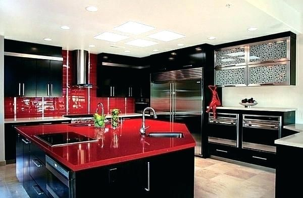 Red And Black Kitchen Decor Red And Black Kitchen Designs Red And