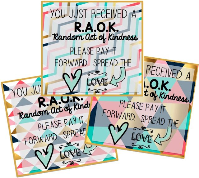 FREE Random Act of Kindness cards