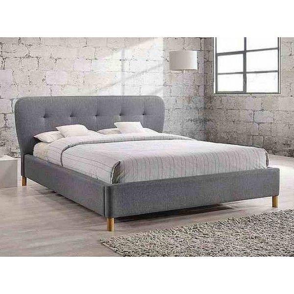 Кровать Bella 160х200 см серая Signal