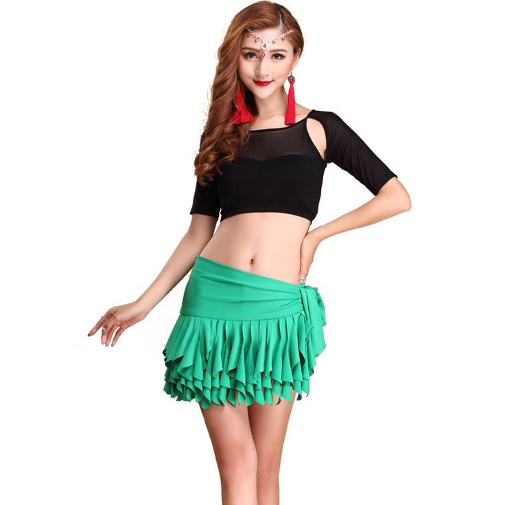 ==> [Free Shipping] Buy Best Adult milk silk green sexy Belly dance Indian dance costumes clothes clothing 3 pcs (coatshort pantship scarf) Online with LOWEST Price | 32639771259