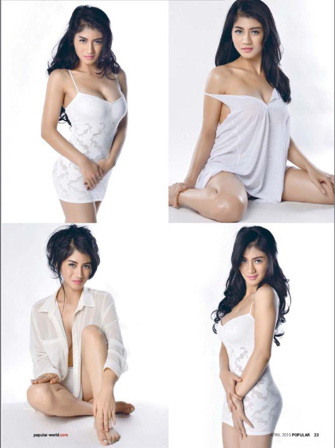 Foto Payudara Seksi Lina Marlina Model Majalah Dewasa Popular