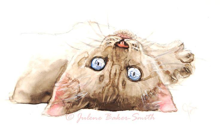 Cat Art Siamese Kitten Siamese Art Print Siamese Cat Lover Gift (12.00 USD) by ArtByJulene