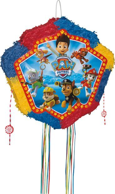 Paw Patrol Drum Pop-Out Pinata - Themed Pinatas and Individualized Party Supplies