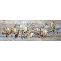 Bird Cluster Oil Painting Canvas Wall Art $299.95