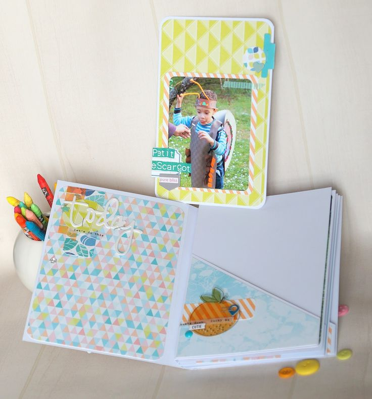 Les 25 meilleures id es de la cat gorie tutoriel mini - Idee scrapbooking album photo ...