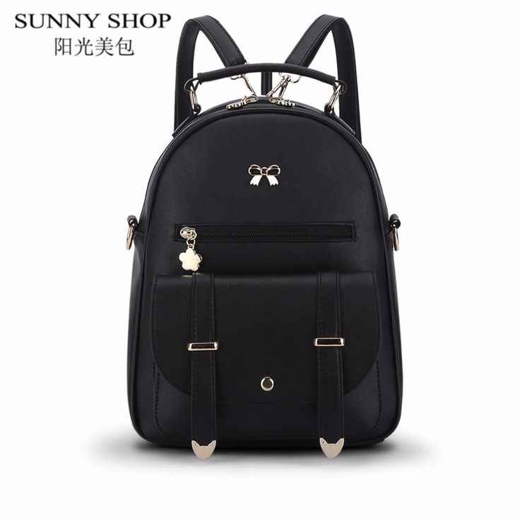 ==> [Free Shipping] Buy Best SUNNY SHOP korean Candy Color Fashion Leather Backpack Women Small Backpacks cheap School Bags For Teenage Girls travel Bagpack Online with LOWEST Price | 32813477897