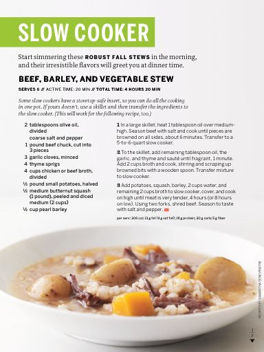 Beef, barley and vegetable stew. | Soups, Stews and Slow Cooker | Pin ...