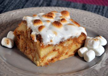 Sweet Potato Bread Pudding with Marshmallow Topping | Baking Bites thanksgiving