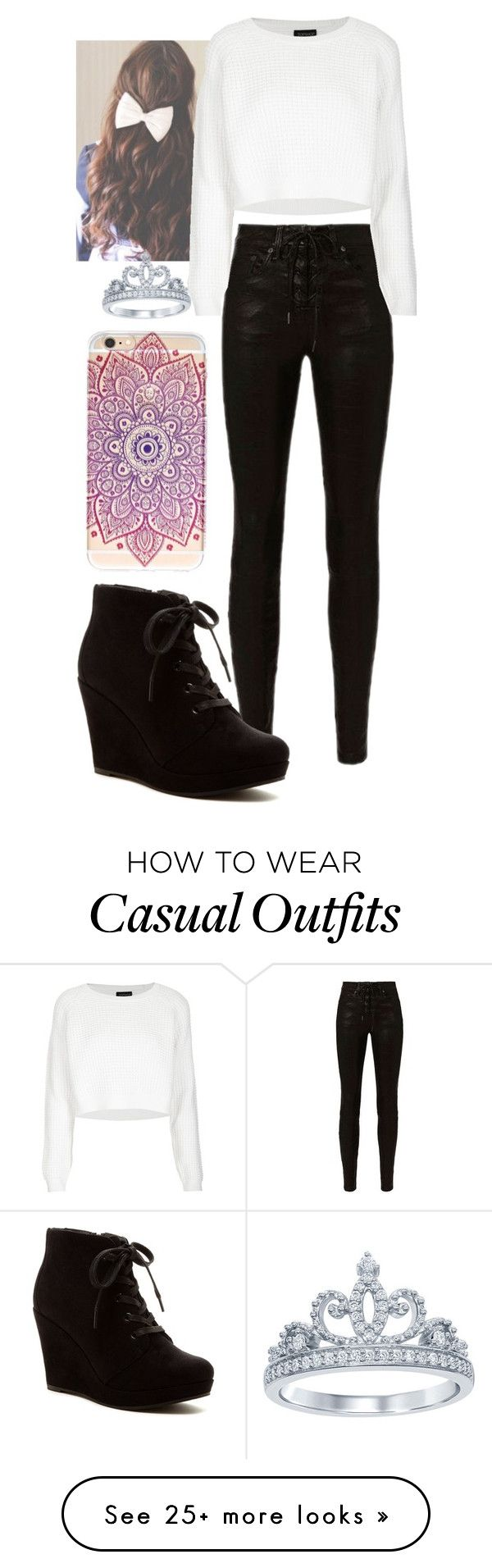 """Fall Chìc"" by mayal-2 on Polyvore featuring rag & bone, Topshop, Rampage and Disney"
