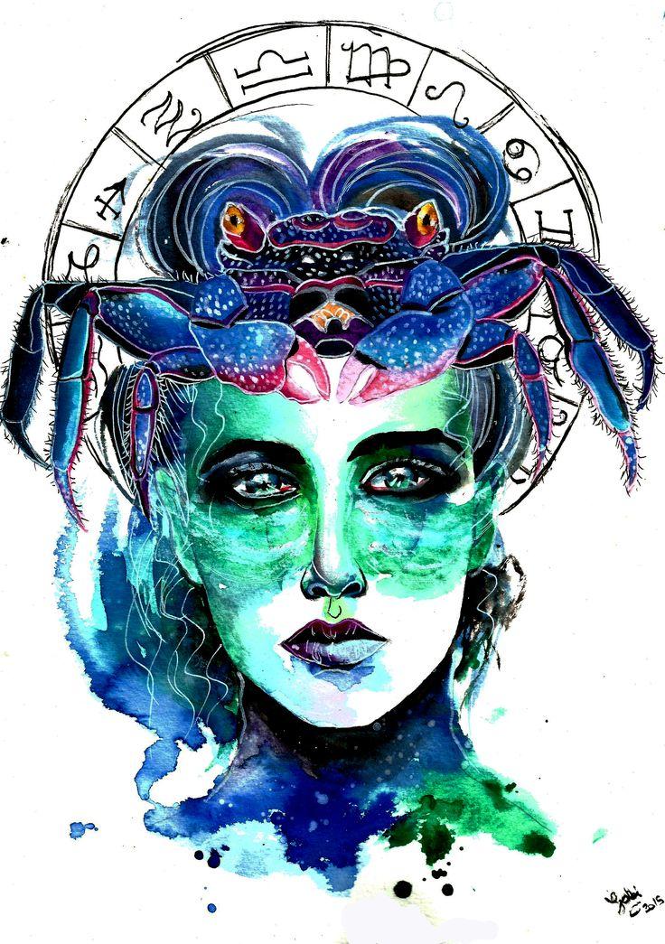 Zodiac Sign Cancer.Art by Gabi Xavier