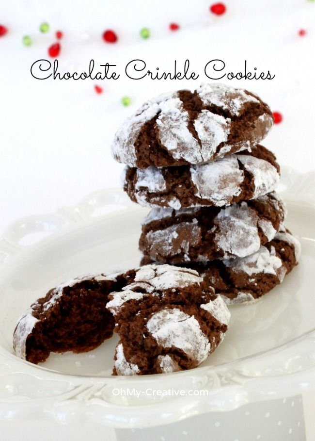 Chocolate Crinkle Cookies & Cookie Recipe Exchange ...
