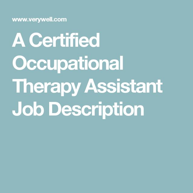 Top 25+ Best Certified Occupational Therapy Assistant Ideas On