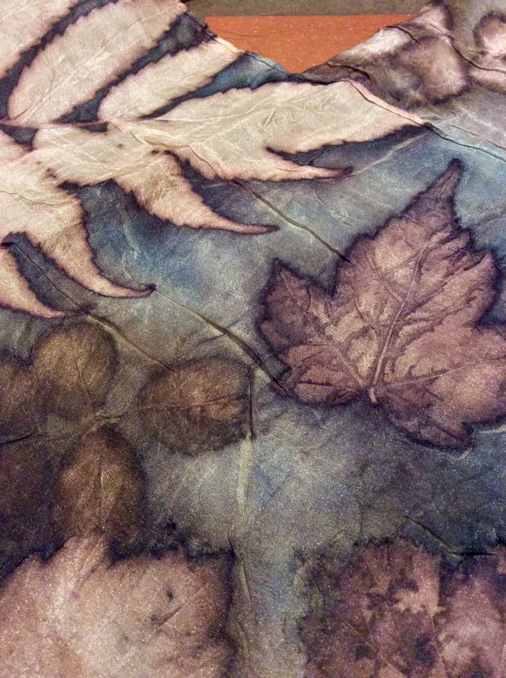 Natural dying and printing with leaves.