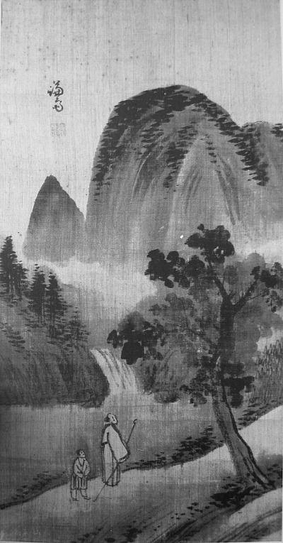 (Korea) Landscapes 3, Folder Screens  by Gyeomjae Jeong Seon (1676- 1759). ca 18th century CE. ink on paper. National Museum of Korea.
