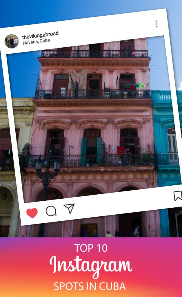 Top 10 Instagram Spots in Cuba Cuba is fascinating, it is like going back in a time you never experienced yourself, old cars from the 50s, abandoned buildings and historic and colourful buildings. Here are my top 10 Instagram spots in Cuba. The Viking Abroad #cuba