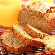 Weight Watchers Banana-Oatmeal Bread (use 4oz applesauce instead of oil; add 1 tsp vanilla, 1 tsp cinnamon; reduce oats to 3/4 cup; increase baking powder to 1/2 tsp, and add 1/2 cup mini chocolate chips with eggs and oatmeal.  Six points a slice, ten slices per loaf.)