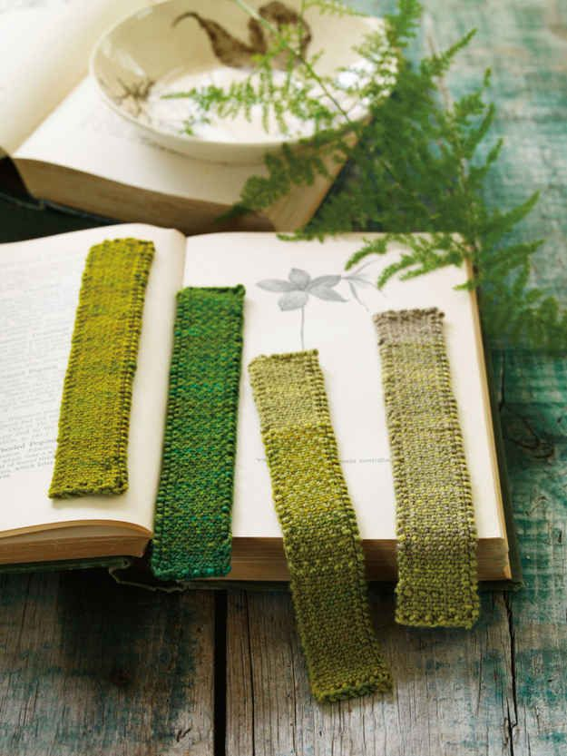 Knit a bookmark, and tons of other little do-dads to use up odd ends of yarn