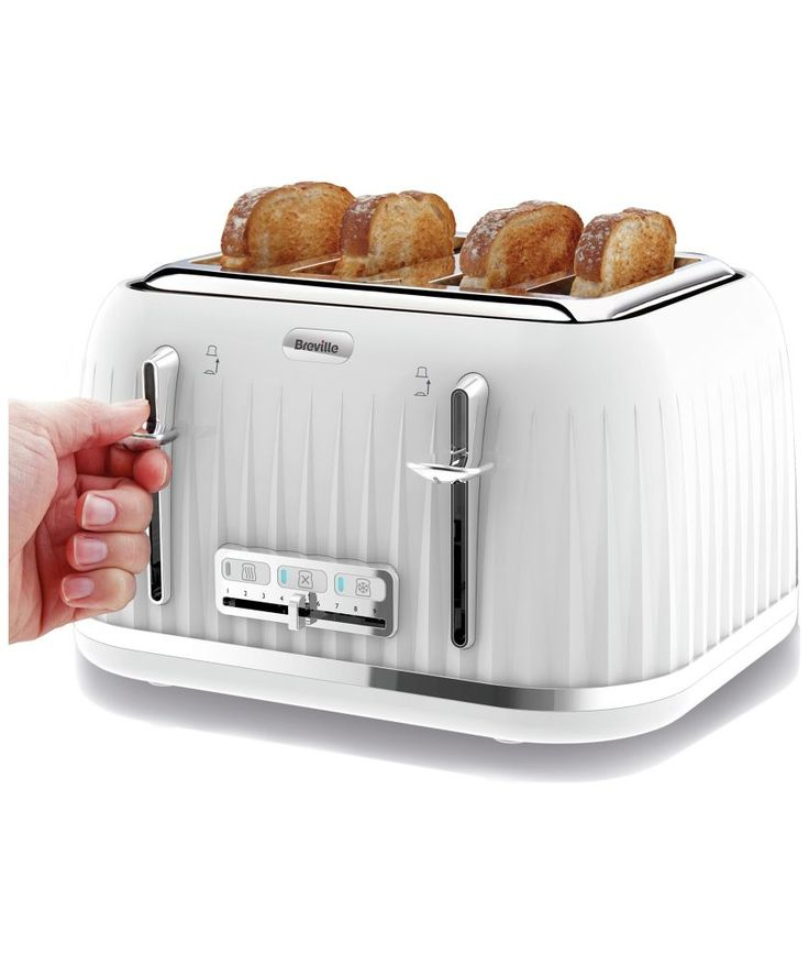 Buy Breville VTT470 Impressions 4 Slice Toaster - White at Argos.co.uk - Your Online Shop for Toasters.