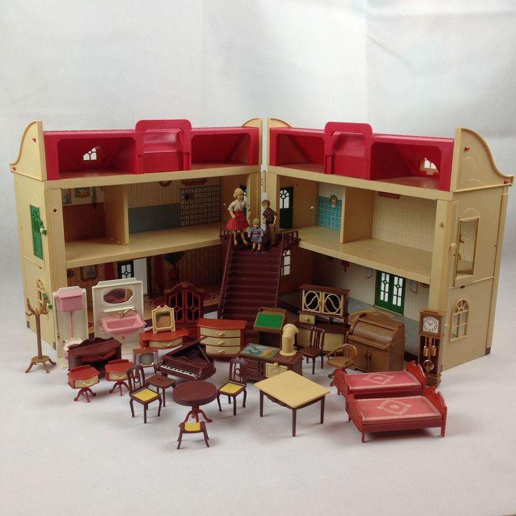 Vintage 1970s Jean Hofler Villa Jeannette Dolls House & Furniture Set - Boxed | eBay