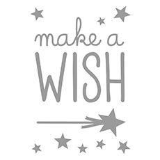 Stickers déco make a wish