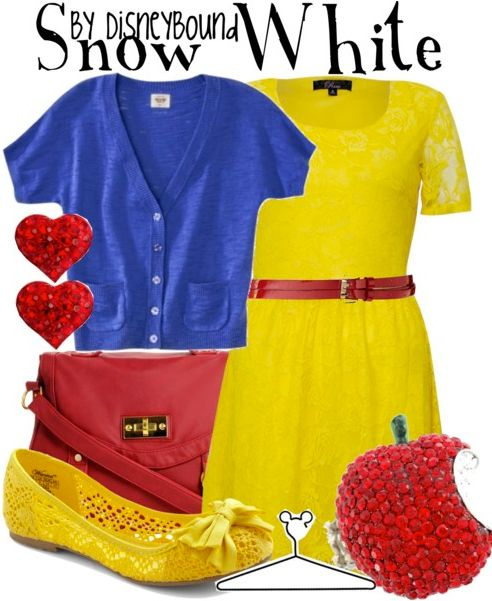 Snow White - disney fashion | Disney Bound I love the shoes and dress!!!
