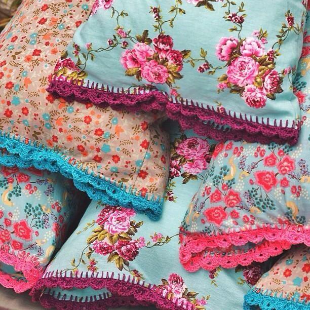 Fronhas Coloridas   Coisas da Doris