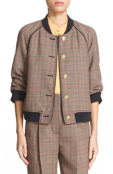 Sewing inspo: 3.1 Phillip Lim Plaid Wool Bomber Jacket at Nordstrom.com.