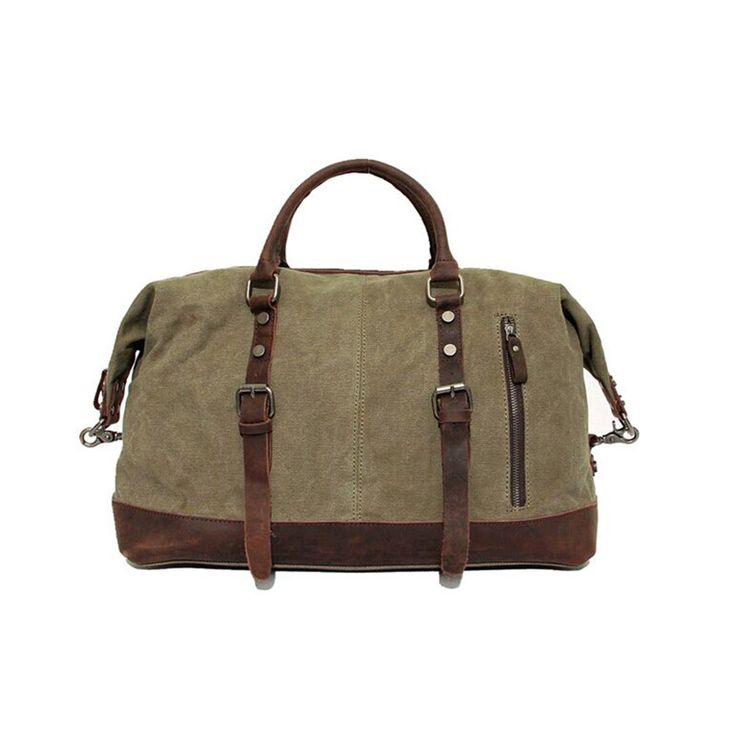 Vintage military Canvas Crazy horse men travel bags Carry on Luggage bags Men Duffel bag travel tote large weekend Bag Overnight Instanations.com #instafashion #instagood #instanations #selfie #selfies #selfiestick