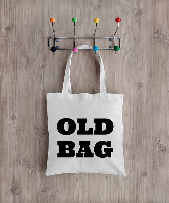 OLD BAG Tote bag Market Bag Recycled Eco Friendly  School
