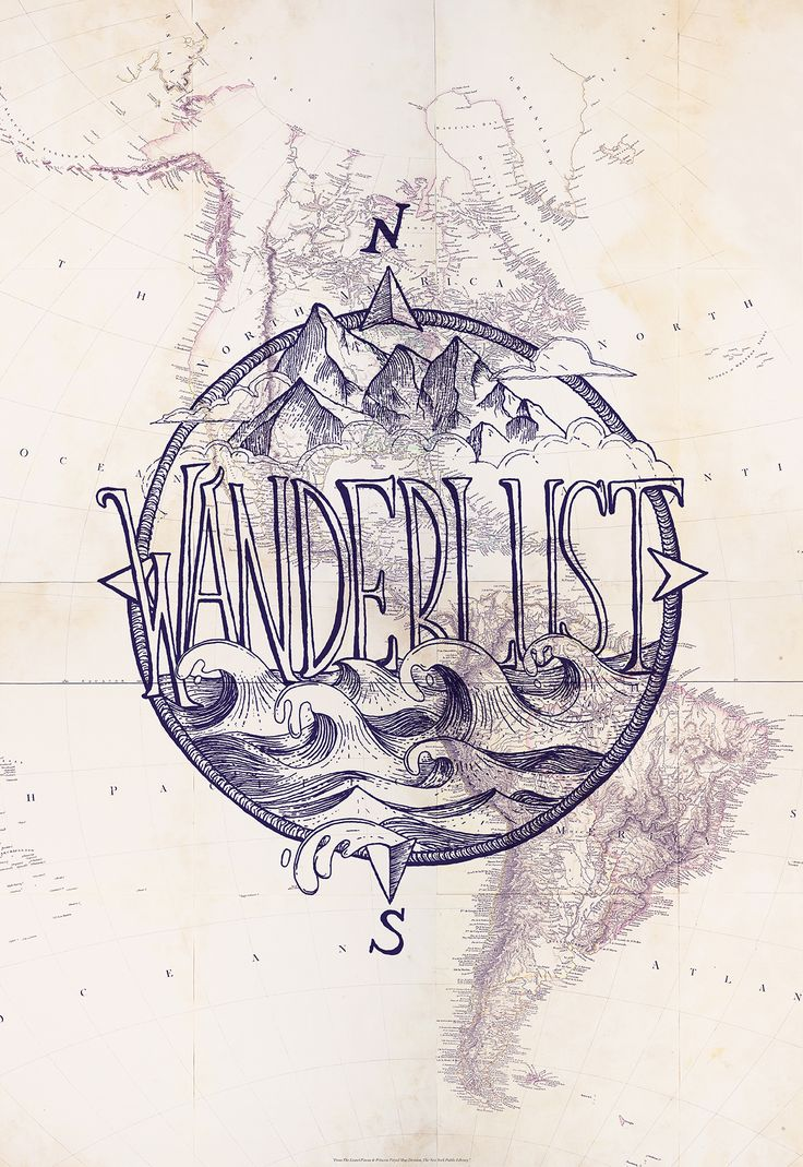 Wanderlust change from wanderlust to something for Caca. Maybe a lake on the bottom. Canoe in the middle