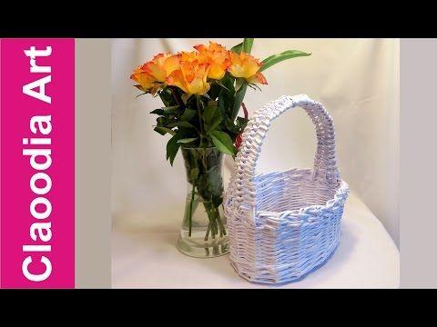 Koszyk zajączek, papierowa wiklina (DIY, Bunny basket, wicker paper) - YouTube