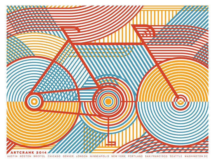These graphic cycling posters by Anne Ulku are rather beautiful - Digital Arts