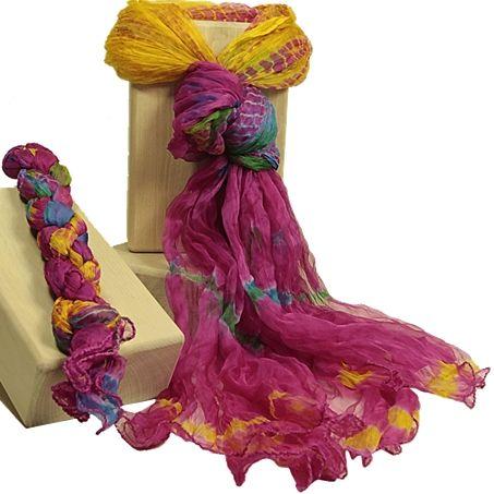 Indische Tie Dye Schals | Esoterikmarkt24 - Jacqueline Hübner