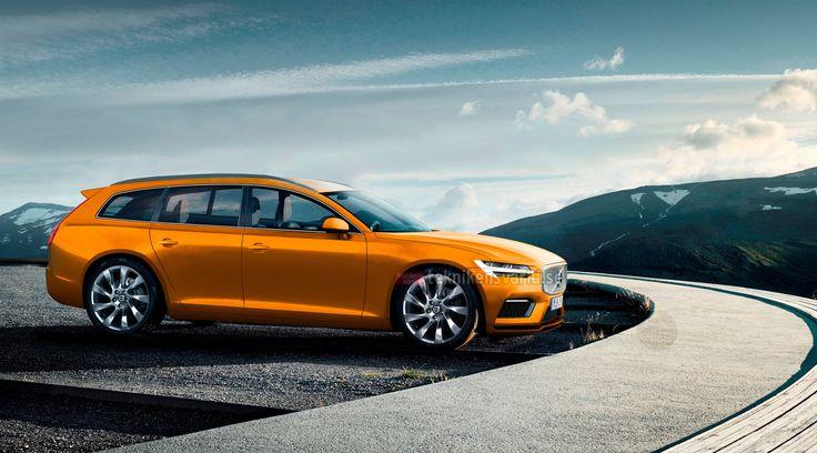 żółte Volvo V90