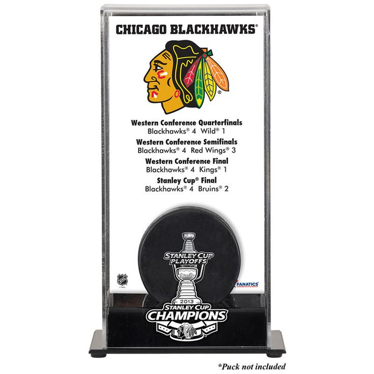 Chicago Blackhawks Fanatics Authentic 2013 NHL Stanley Cup Final Champions Logo Puck Display Case