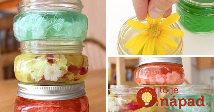 Ak hľadáte tip na vlastnoručne zhotovený darček, alebo chcete jednoducho vyrobiť niečo pekné do vášho bytu, prinášame vám skvelý tip. Gélový osviežovač vzduchu s vašou obľúbenou vôňou a krásnou dekoráciou z lupienkov kvetov alebo iných drobností. Vyrobíte ho skutočne jednoducho a rýchlo.